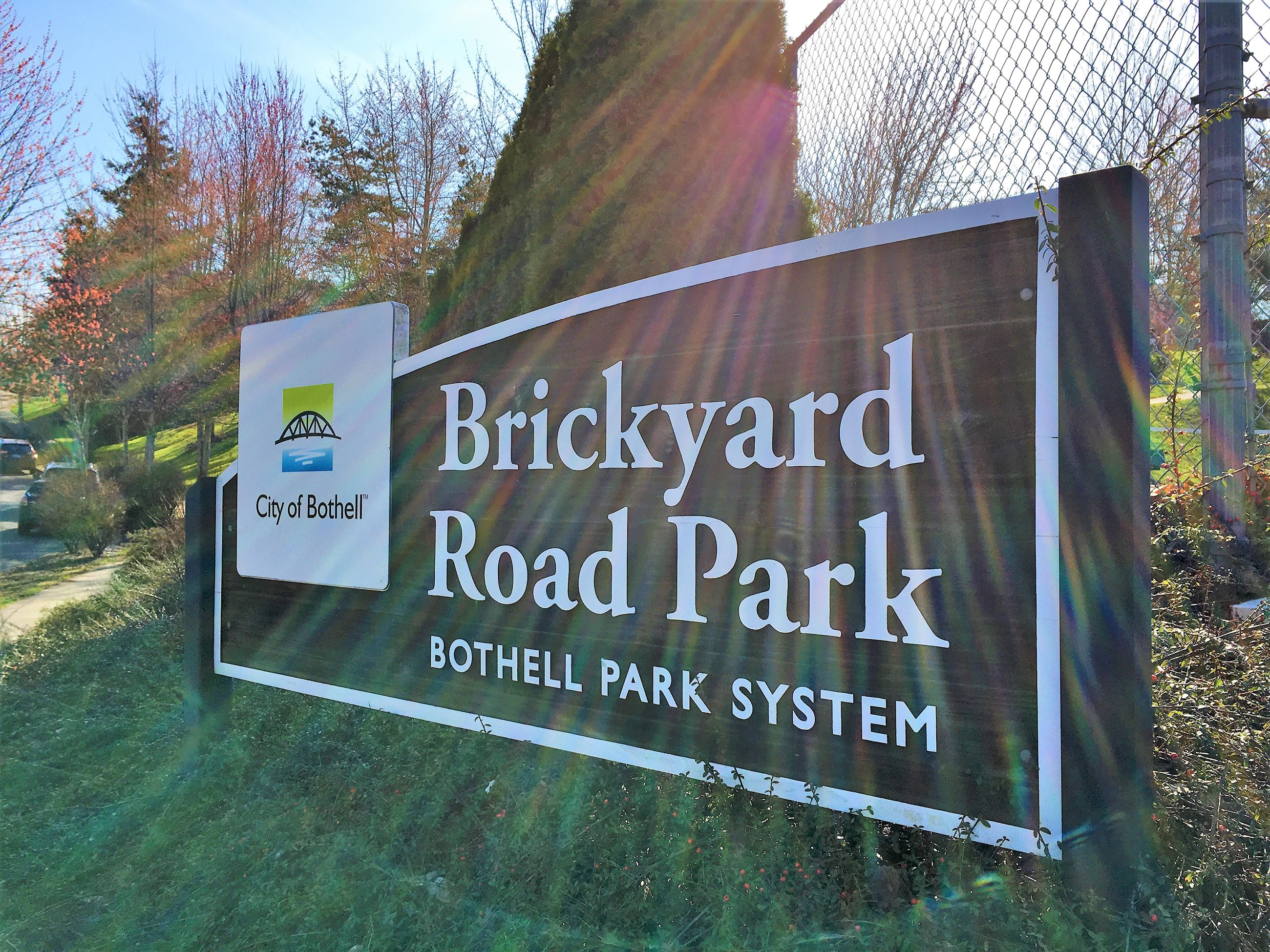 Brickyard Road Park entrance sign
