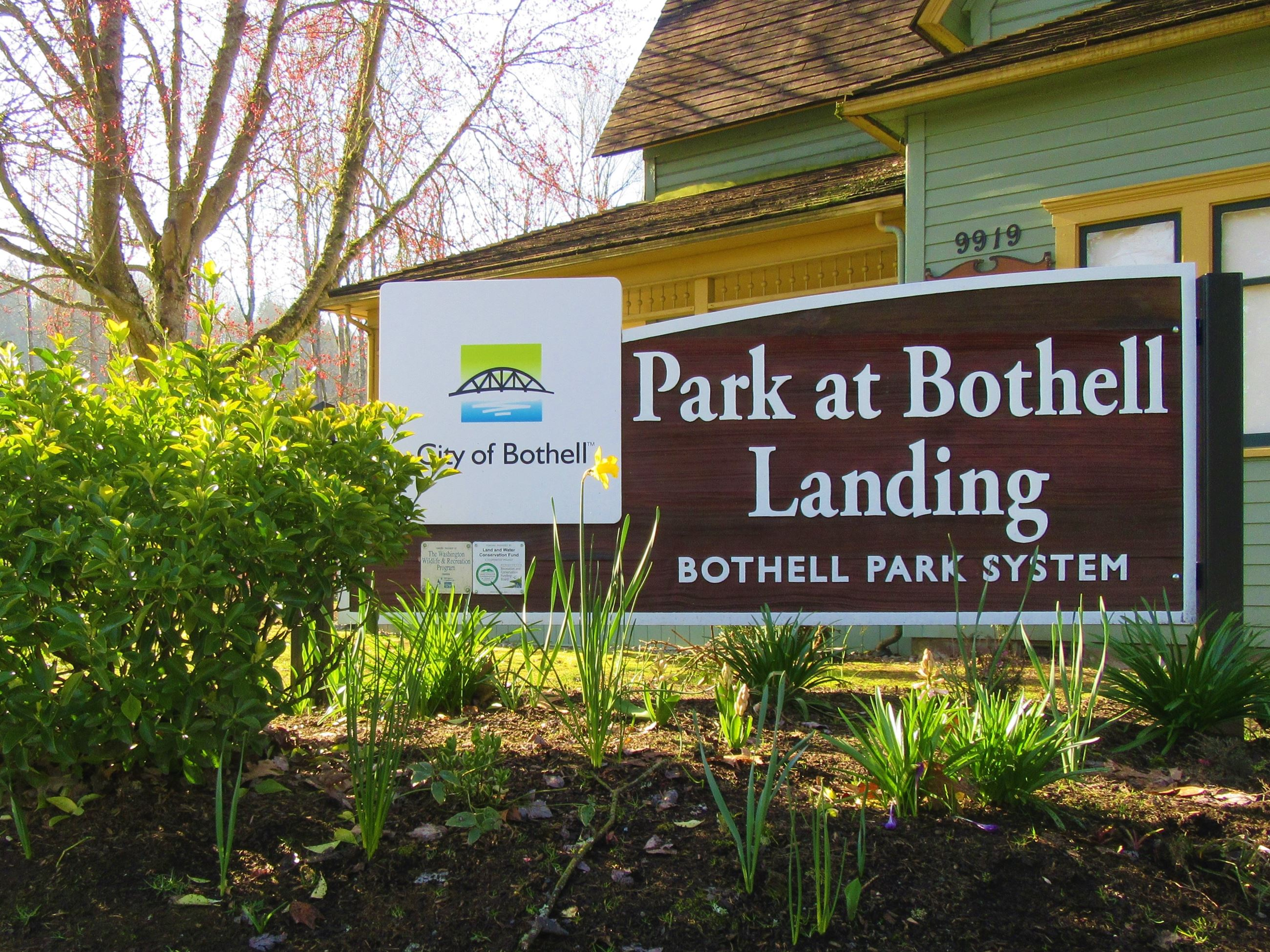 Park at Bothell Landing sign