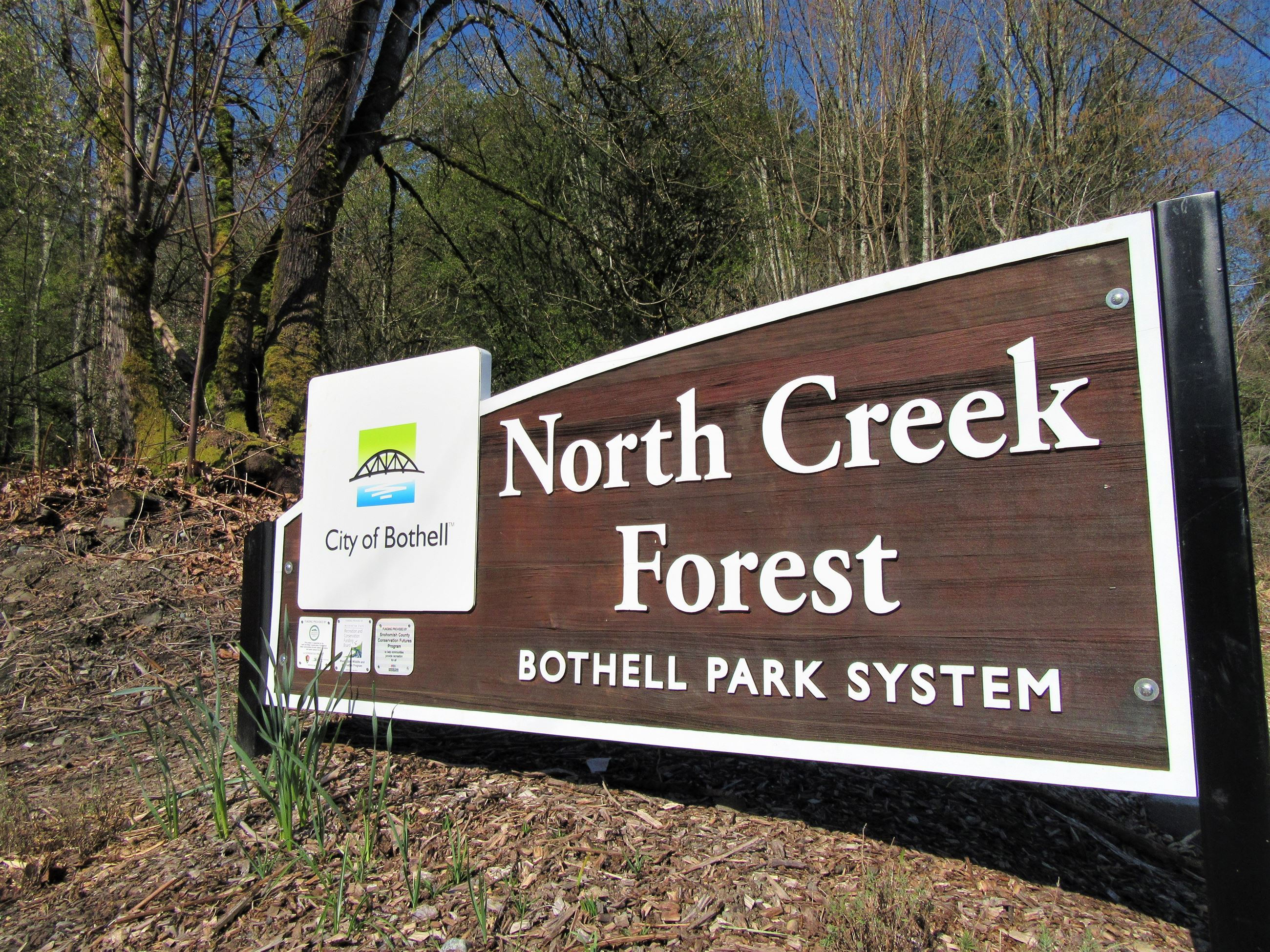 North Creek Forest sign
