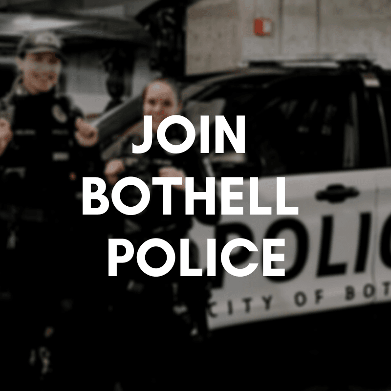 JOIN BOTHELL POLICE IMAGE SHOWS OFFICER WITH POLICE CHIEF