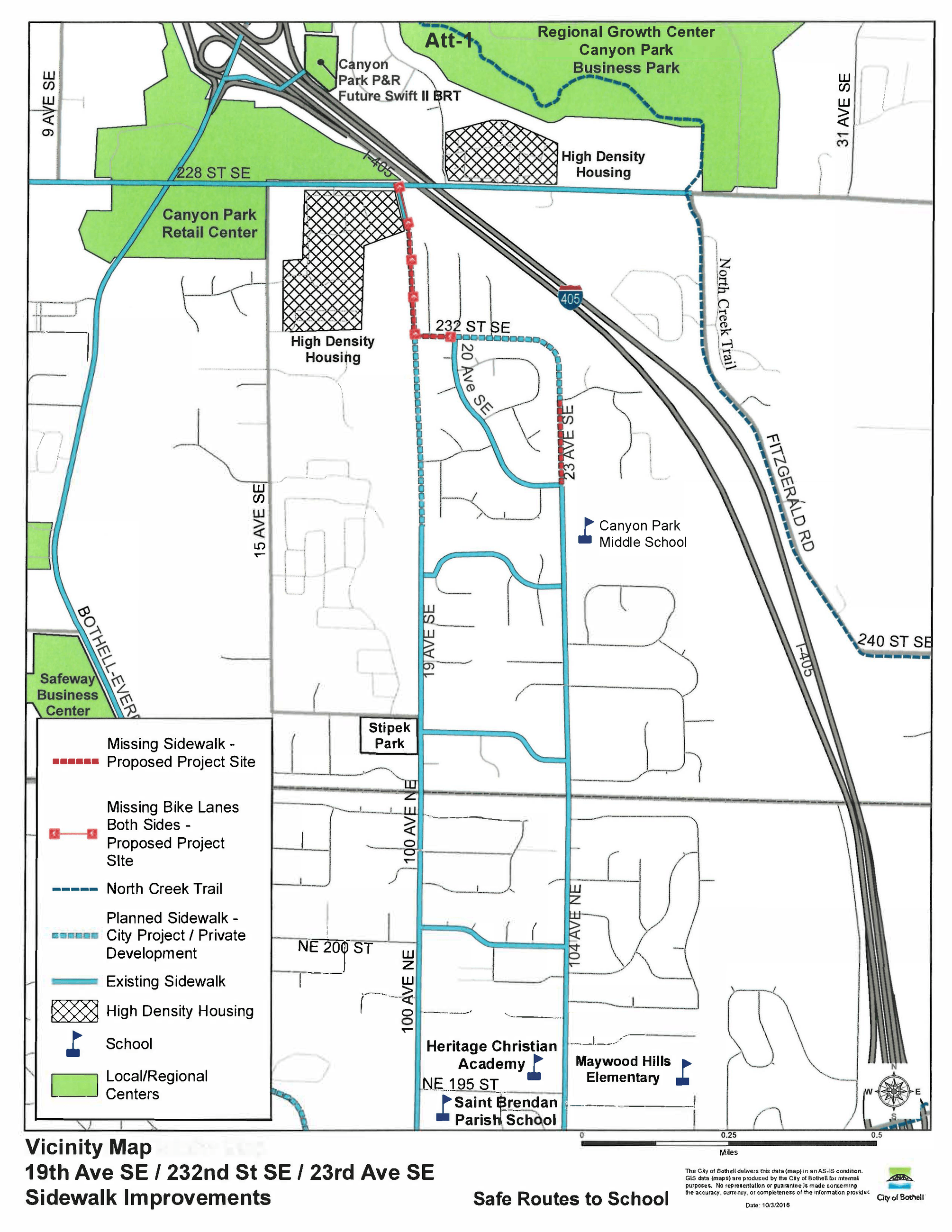 Map showing project area