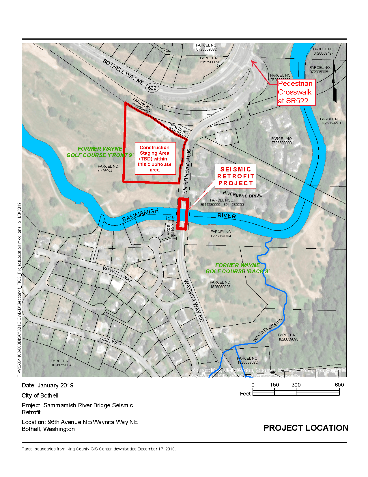 Sammamish River Seismic Retrofit Vicinity Map