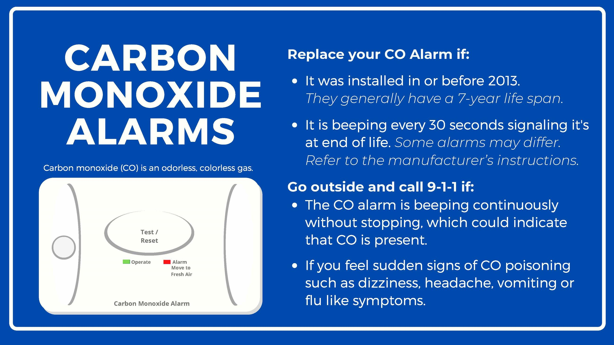 CO Alarms-English