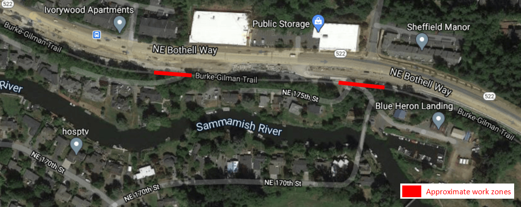 Burke-Gilman Trail Work